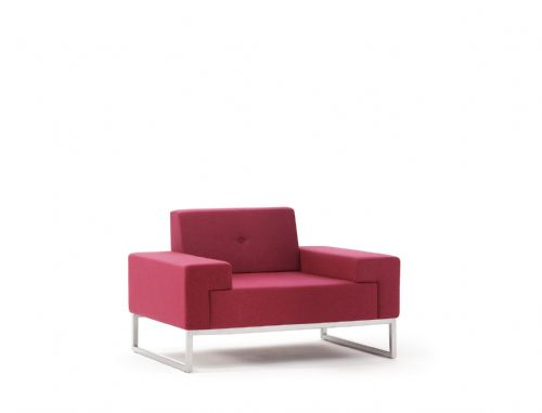 Pledge Hub Upholstered Armchair With Steel Underframe